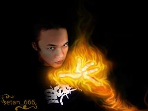 setan dalam api